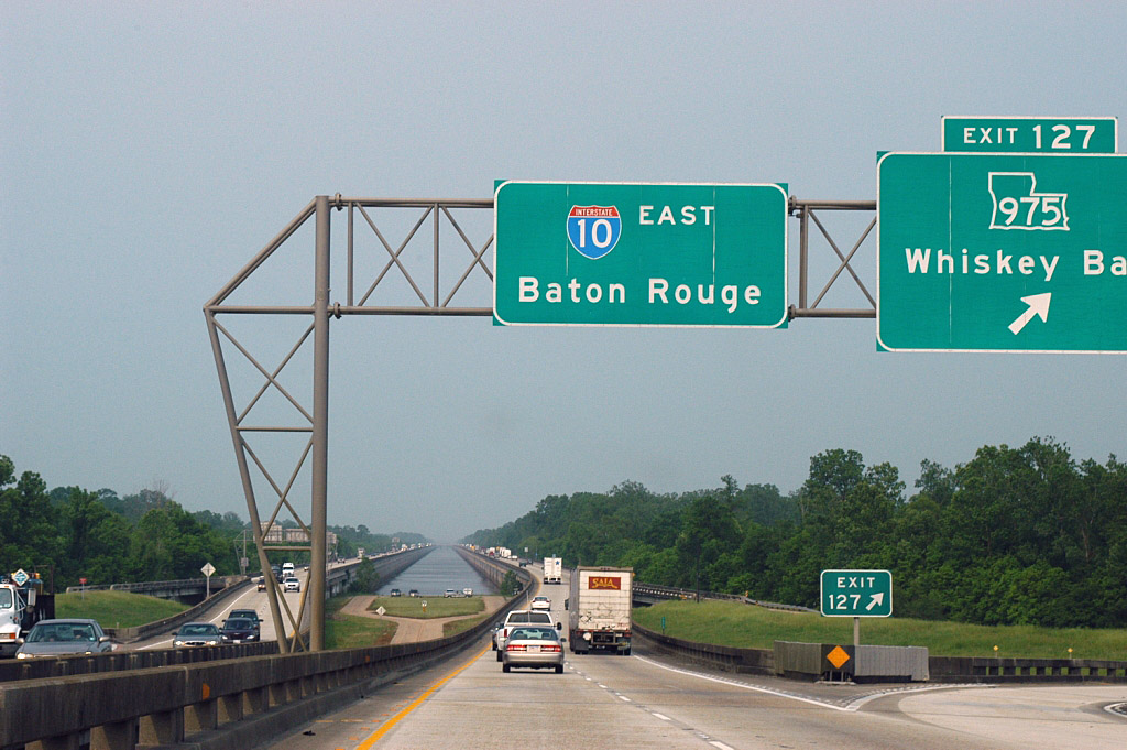 Louisiana interstate 10 and state highway