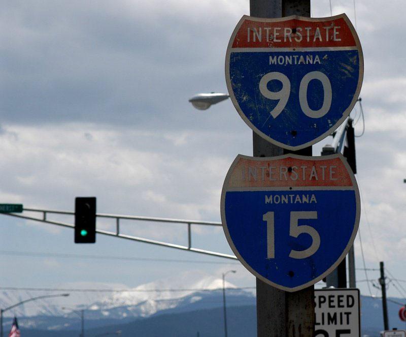 Montana - interstate 15 and interstate 90 - AARoads Shield ...