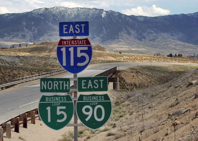 Montana - business loop 90, business loop 15, and ...