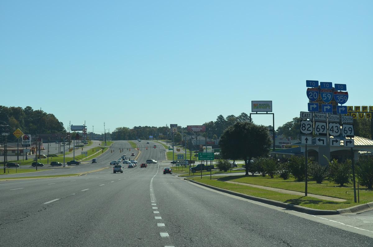 U S 82 East Tuscaloosa Vicinity Aaroads Alabama