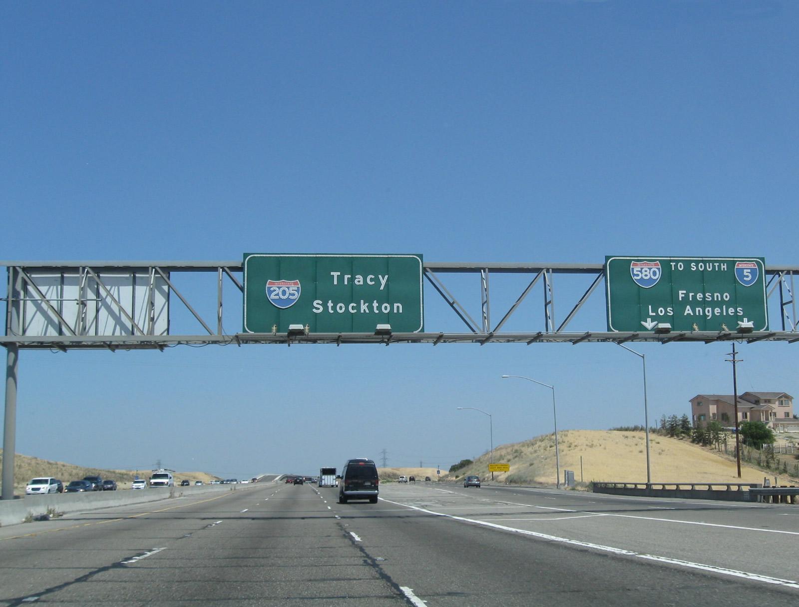 Interstate 205 East Aaroads California Highways