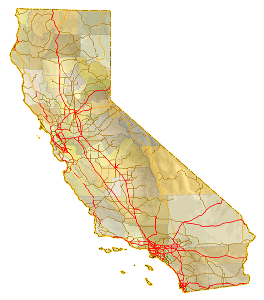 California Highways AARoads Index - Rivers in southern ca us map