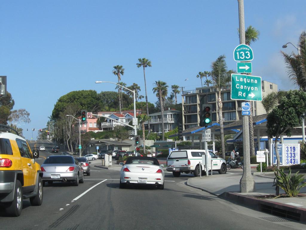 Laguna Beach Ocean Avenue Road