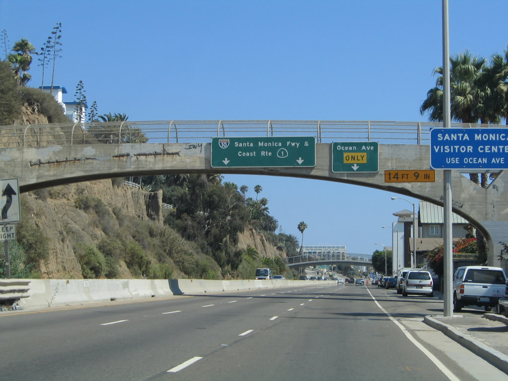 an exit along california 1 pacific coast highway south connects to
