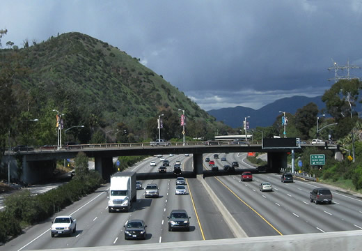 This View Looks North From The Los Feliz On Ramp To Interstate 5 Golden State Freeway
