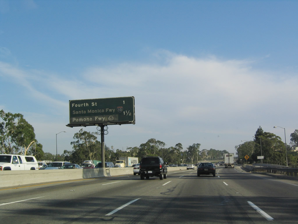 Fourth Street And The Myriad Of Ramps That Cons Ute Exits 134c A Interstate 10 Santa Monica Freeway West And California 60 Pomona Freeway East