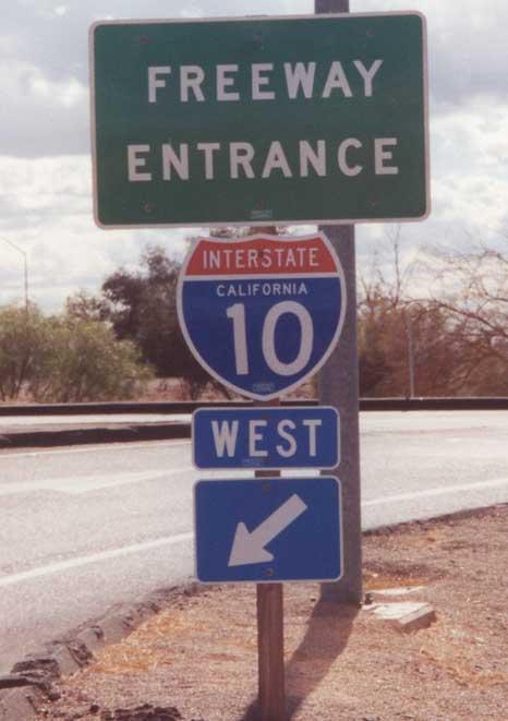 10 freeway entrance shield I 10 Freeway