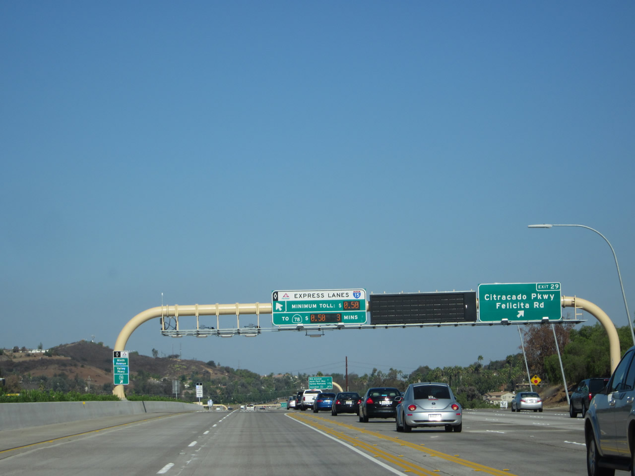 California Aaroads Interstate 15 North Escondido To