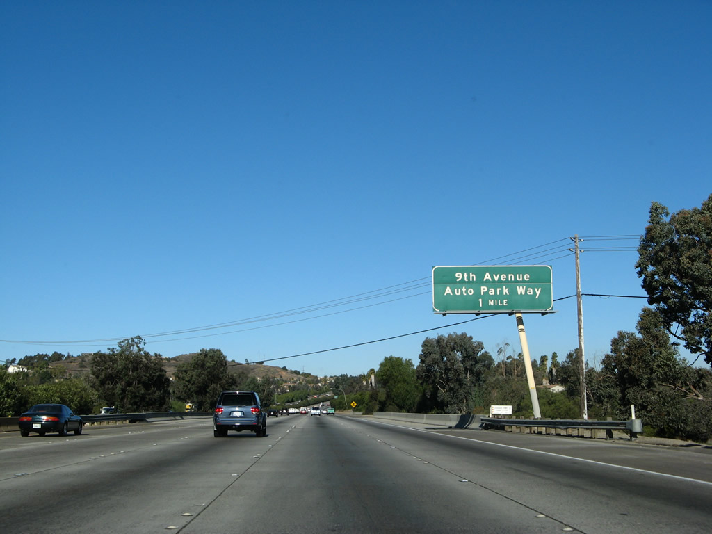 California Aaroads Interstate 15 North Escondido To The Riverside County Line