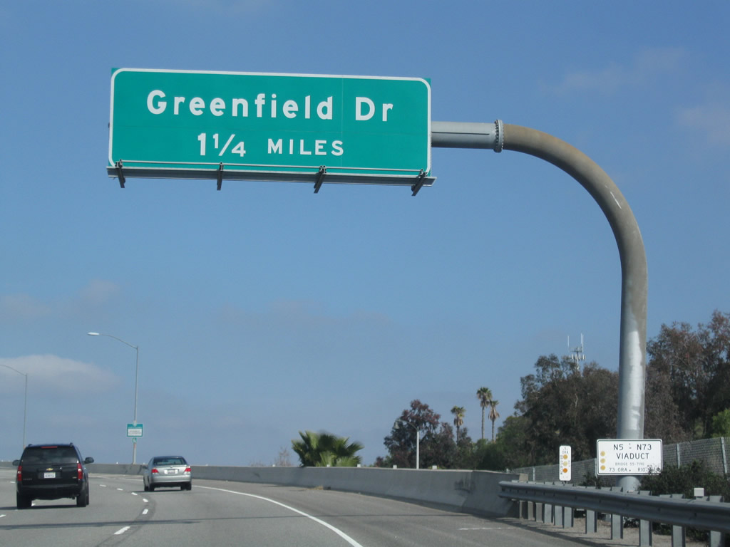 Leaving Interstate 5 North The First Exit From Northbound California 73 San Joaquin Hills Transportation Corridor Is Exit 2 Greenfield Drive