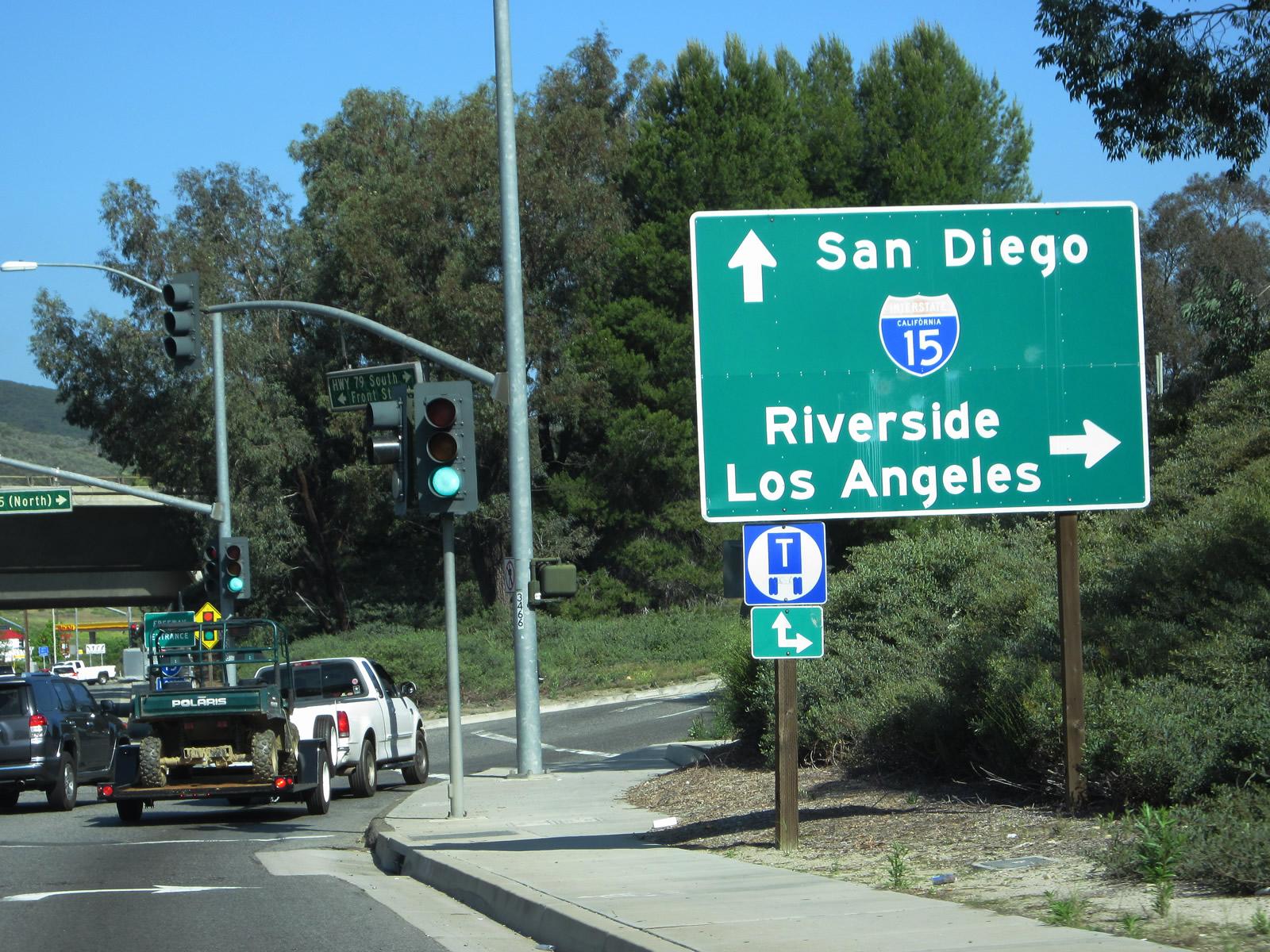 Driving Distance from Temecula, CA to San Bernardino, CA