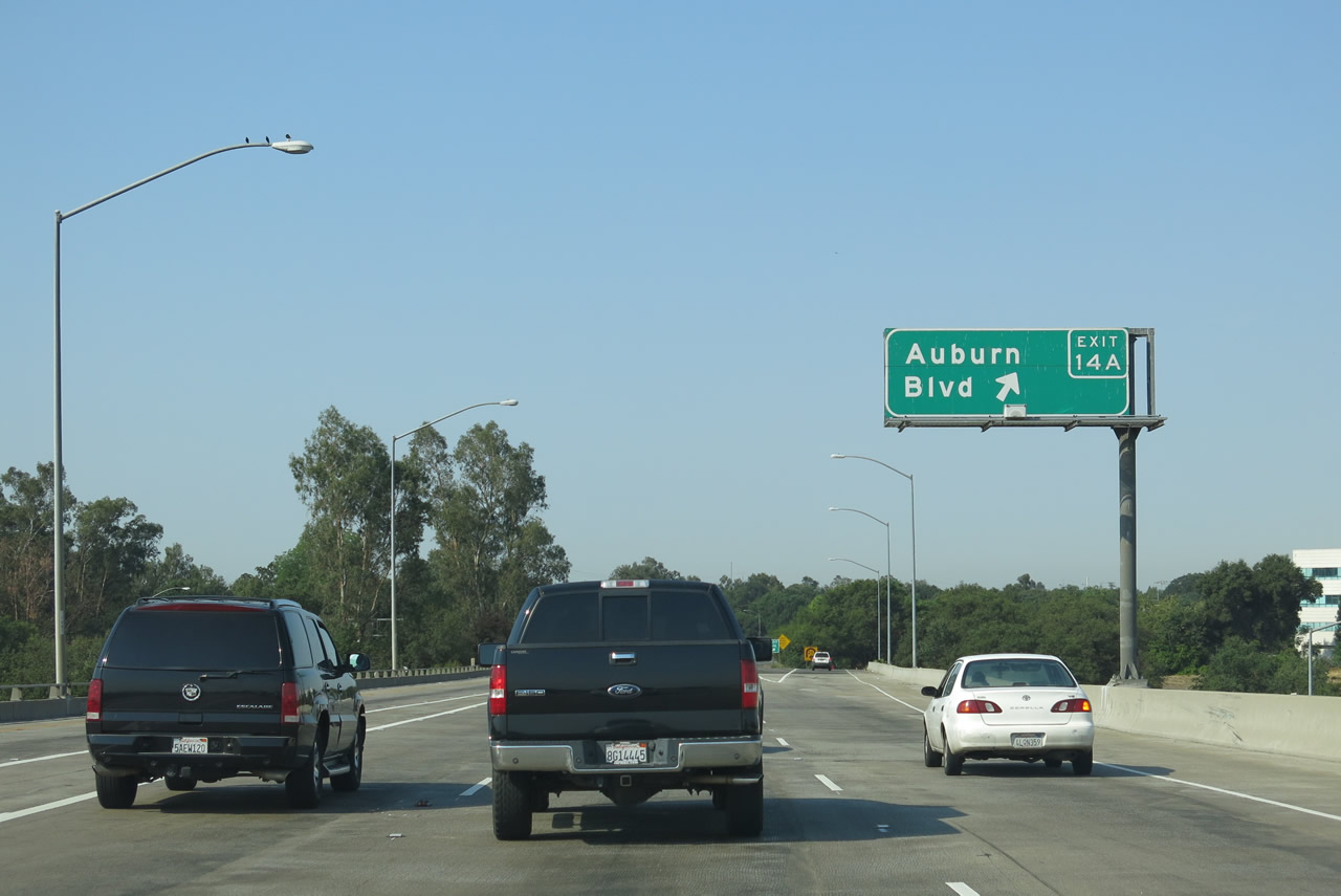California Map Hwy 99%0A Westbound Business Loop I    Capital City Freeway  and southbound  California    meet Exit   A  California     east to Historic U S      E   Auburn