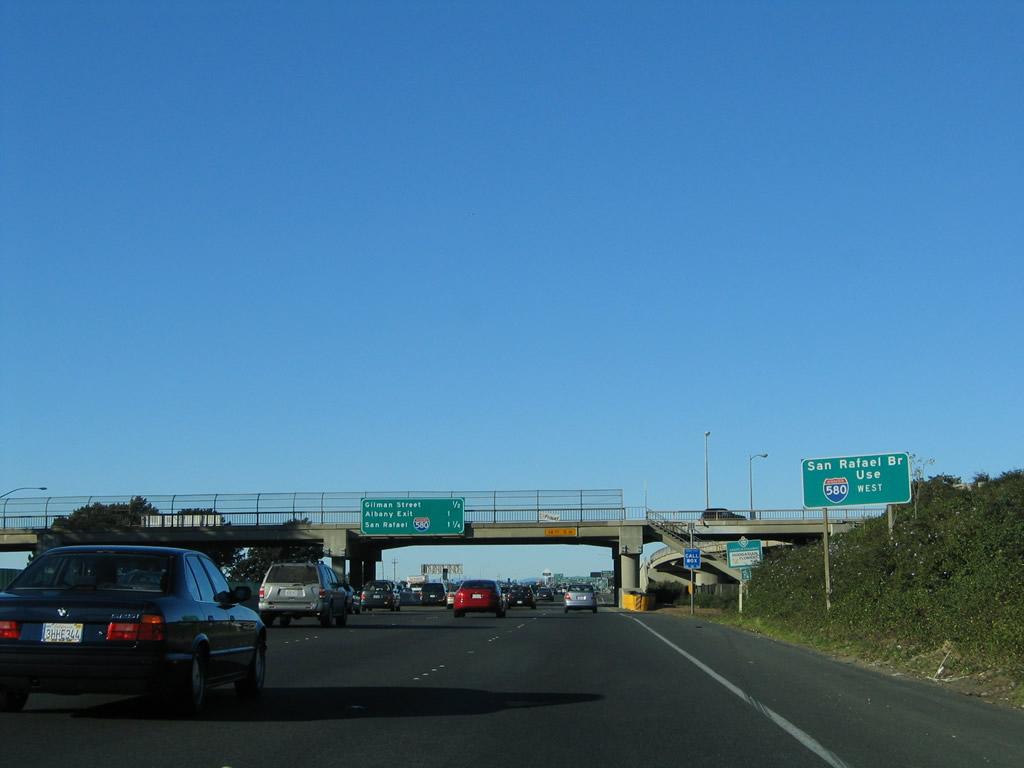 California Aaroads Interstate 80 East San Francisco And Alameda Counties