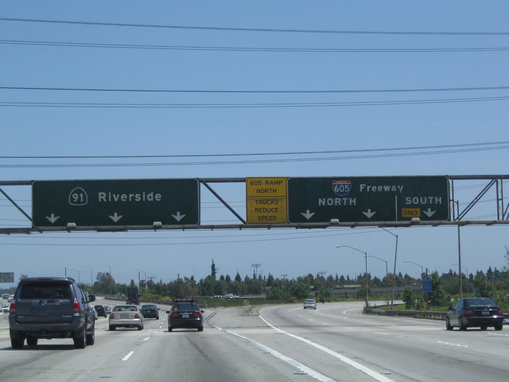California @ AARoads - California 91 East - Exits 15 to 29