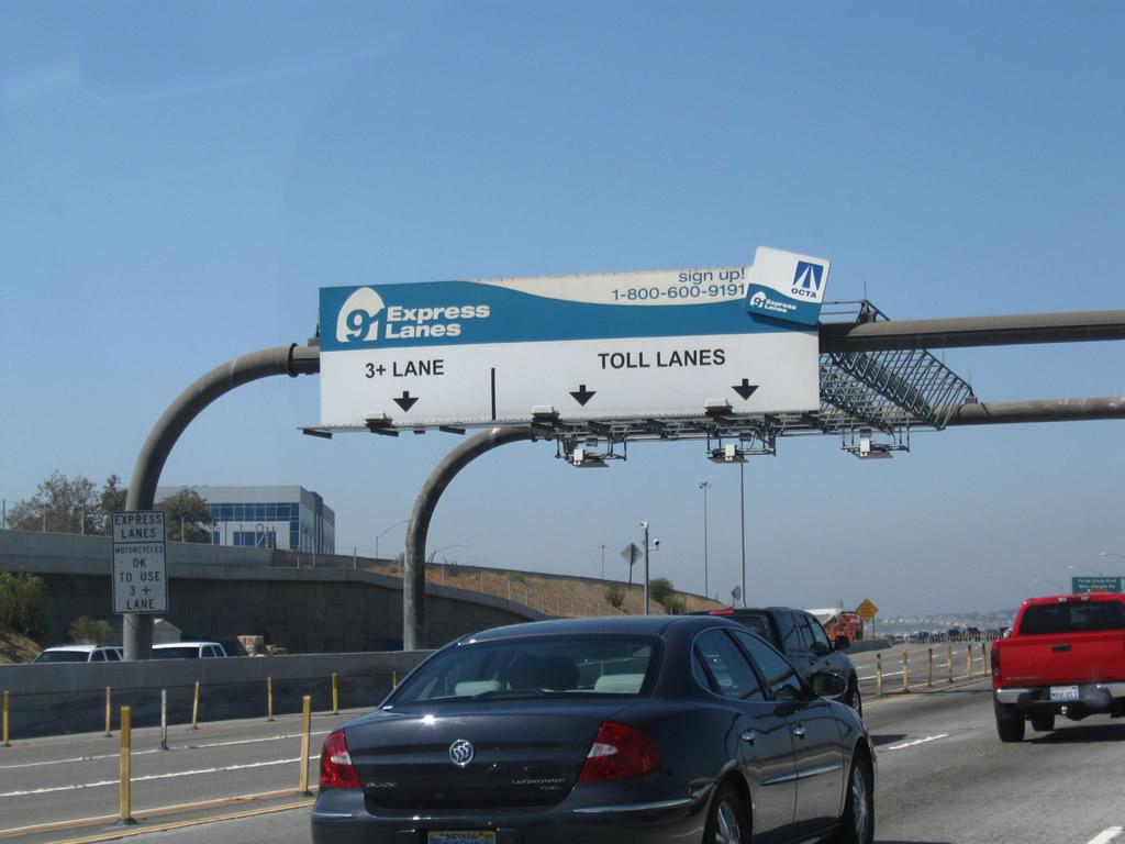 Carpool Lane Rules >> California @ AARoads - California 91 West - Exits 49 to 30