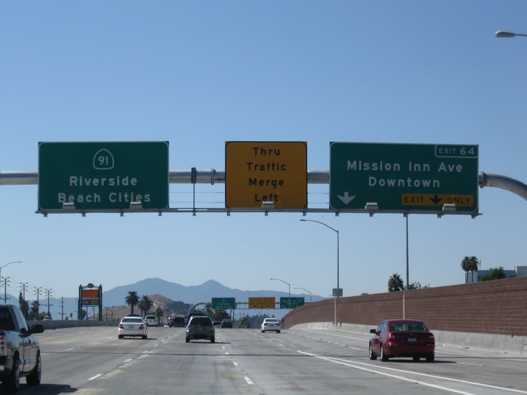 California @ AARoads - California 91 West - Exits 65 to 50