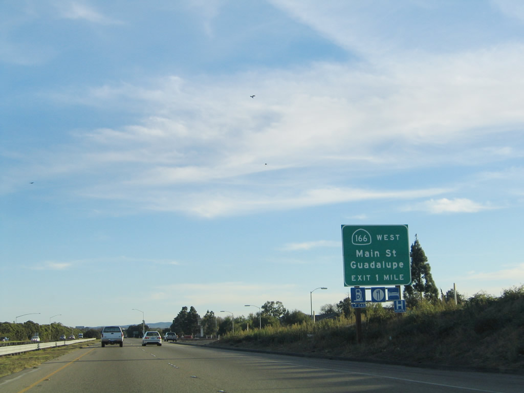 California  AARoads US  South Santa Barbara County - Us 101 south map