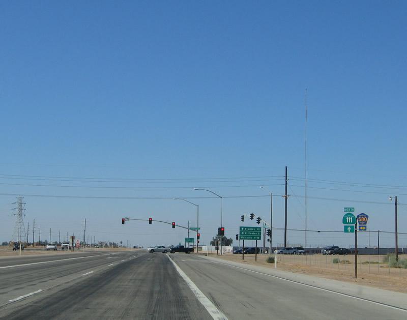 California Aaroads California 111 North Interstate 8