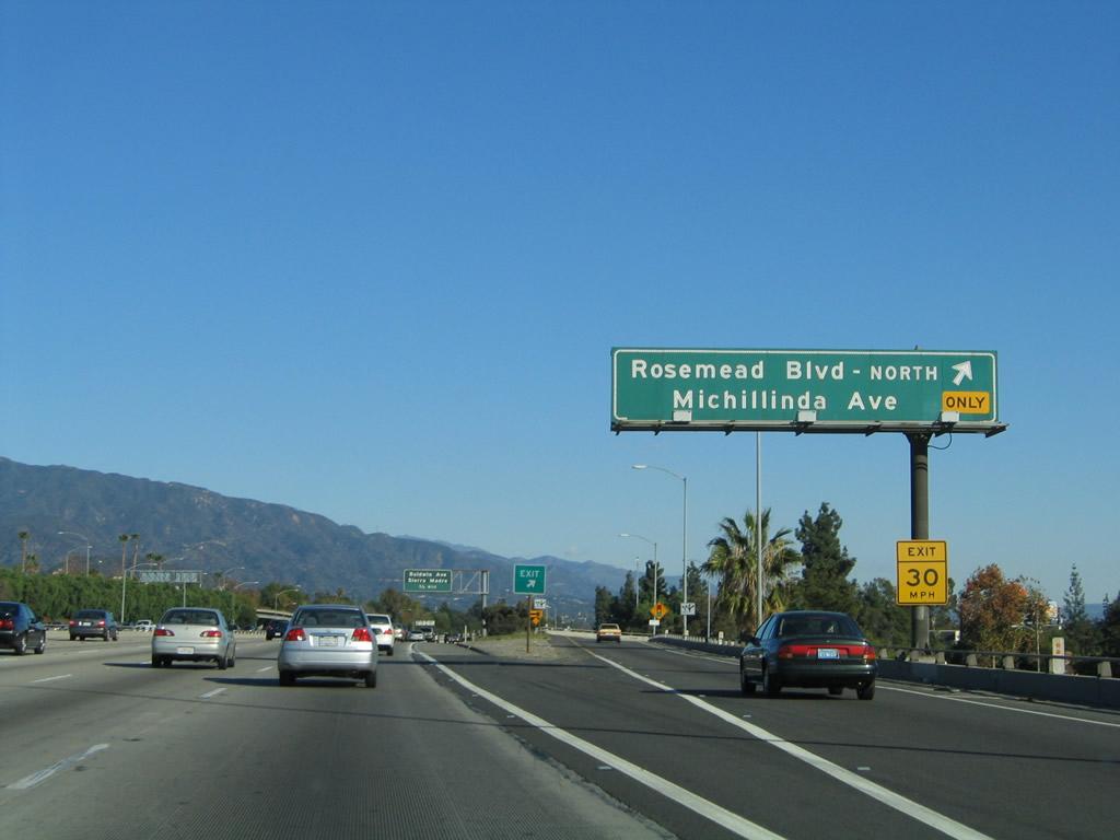 California Aaroads Interstate 210 East California