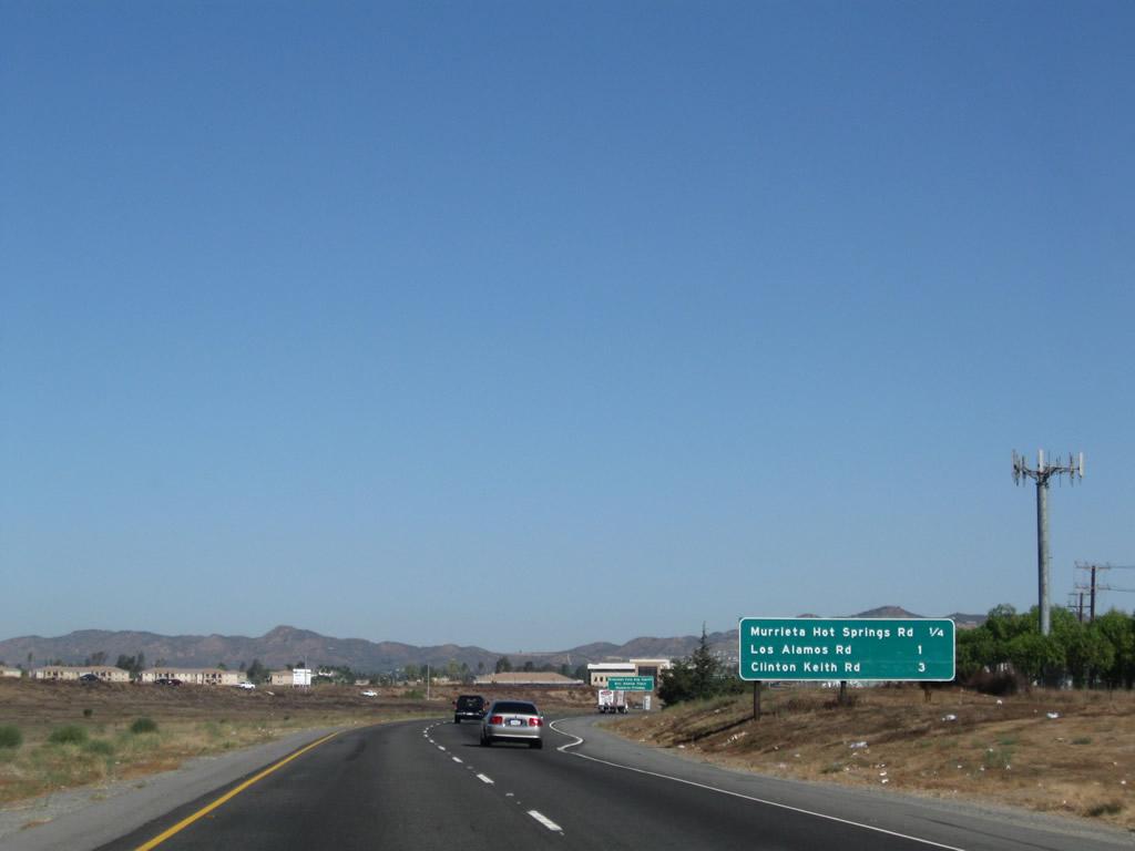 California @ AARoads - Interstate 215 North - Murrieta to