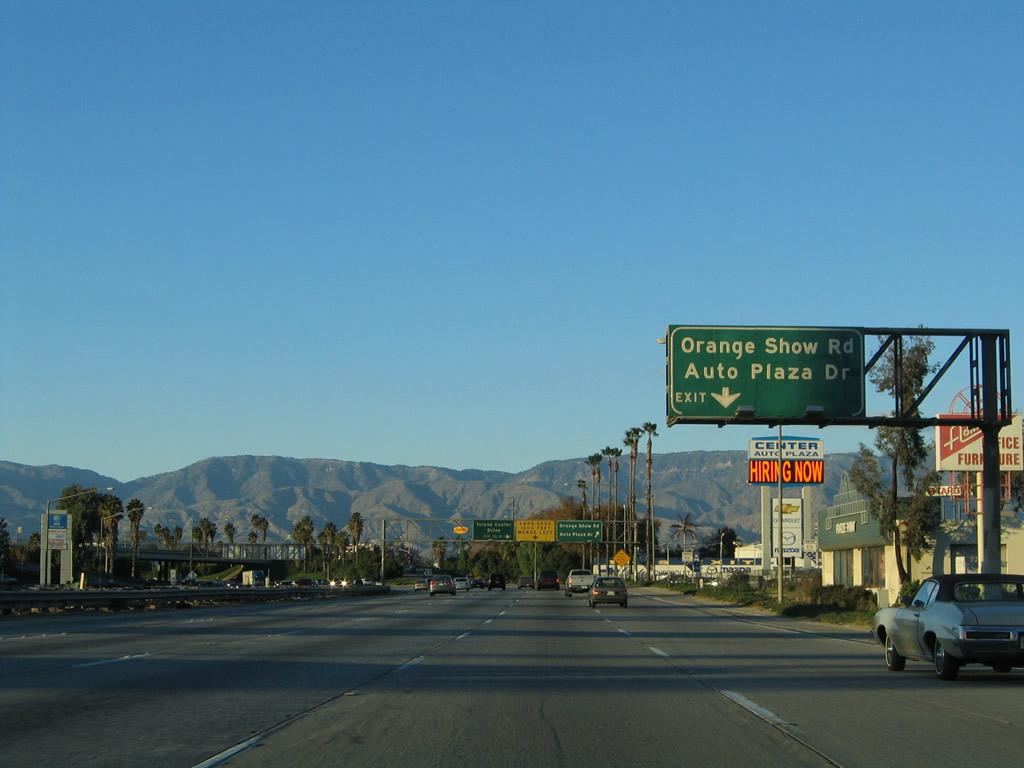 California Aaroads Interstate 215 North Riverside To