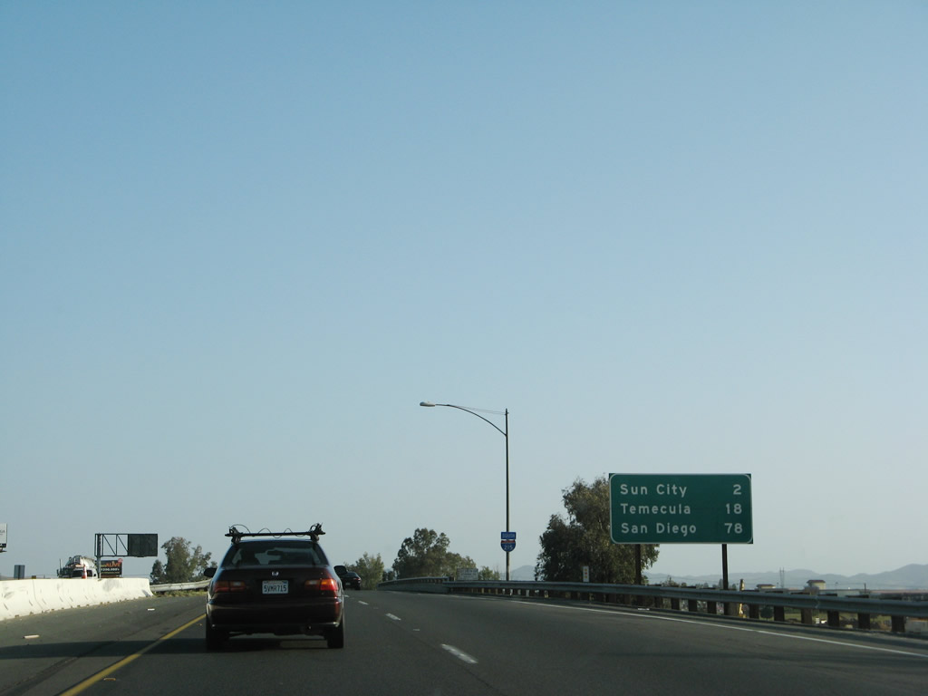 Driving Distance from Murrieta, CA to San Diego, CA
