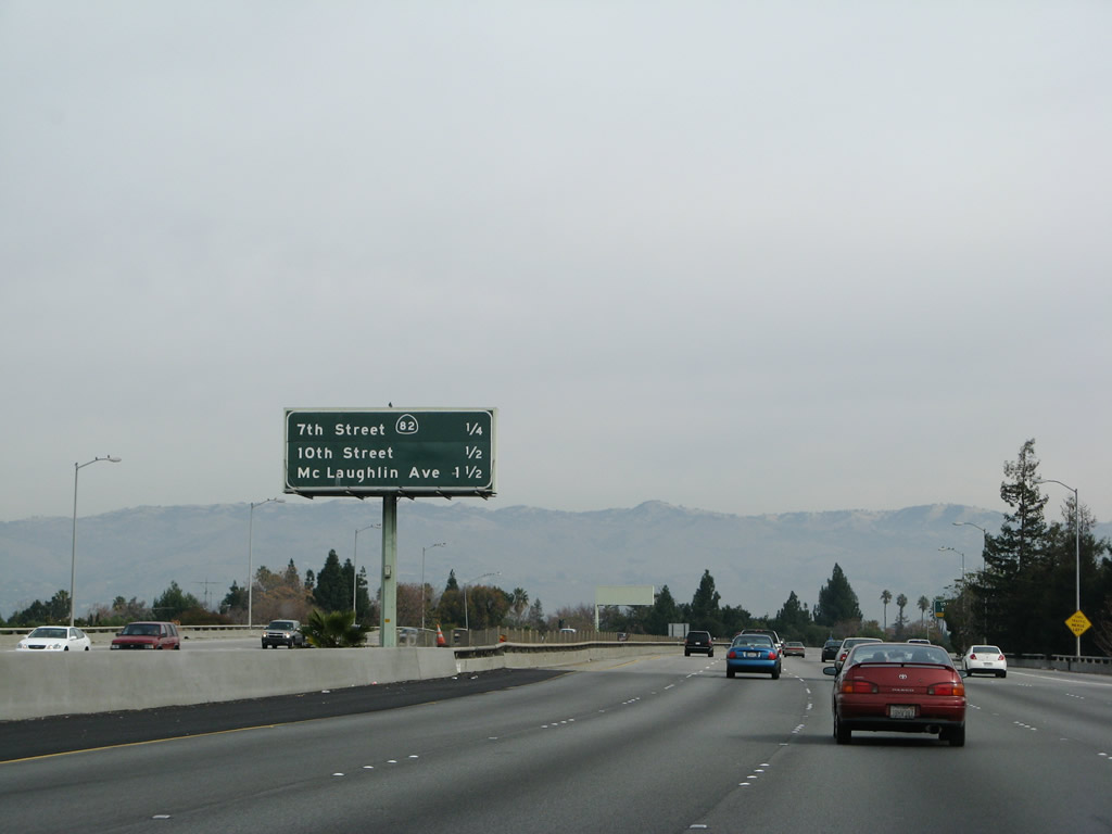The next three exits on Interstate 280