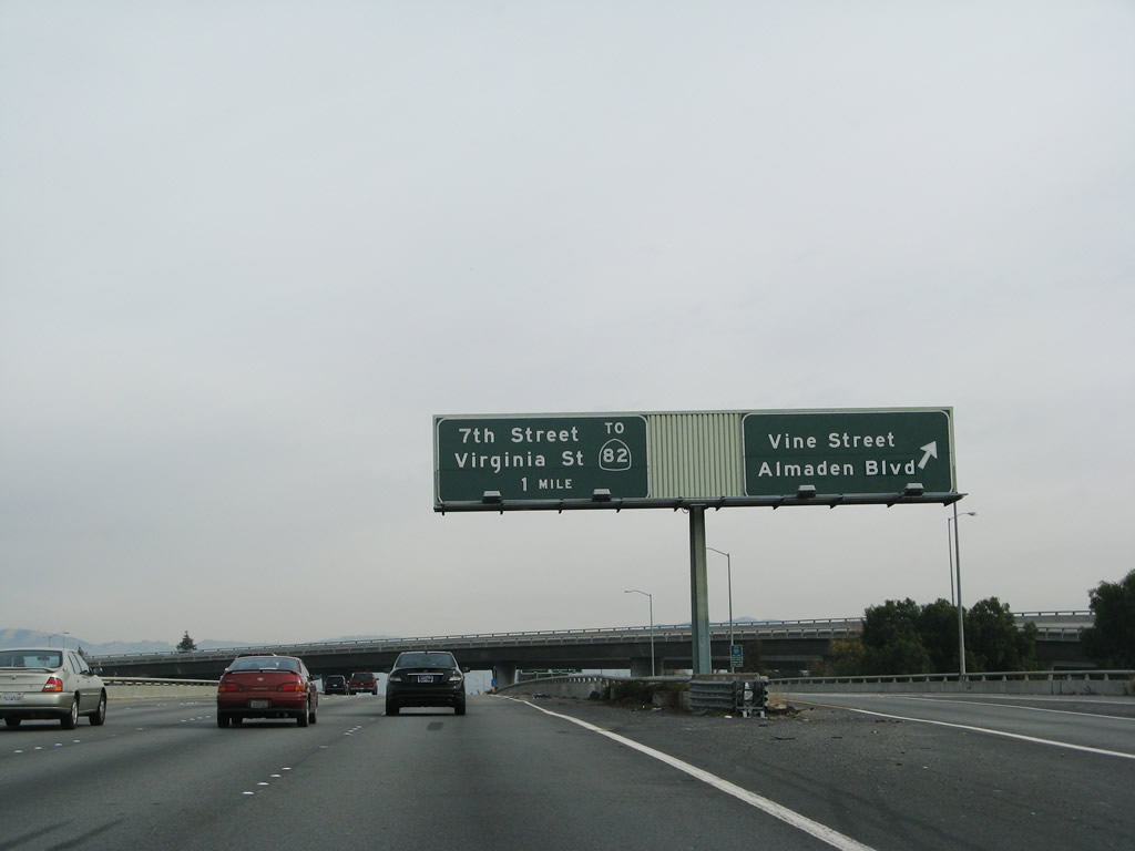 The next exit along southbound is Exit