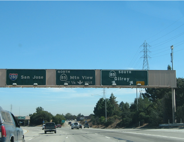 California @ AARoads - Interstate 280 South - Santa Clara County