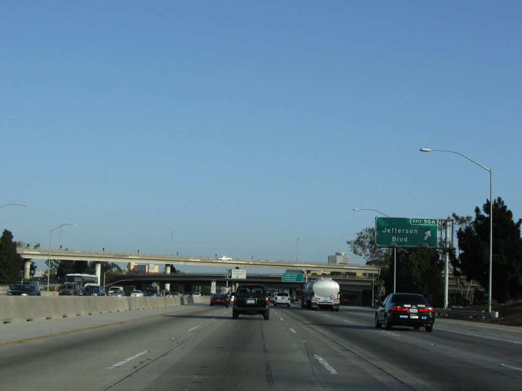 Immediately thereafter southbound Interstate 405 San Diego
