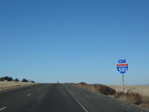 Southern California Electric >> California @ AARoads - Interstate 580 West - San Joaquin ...