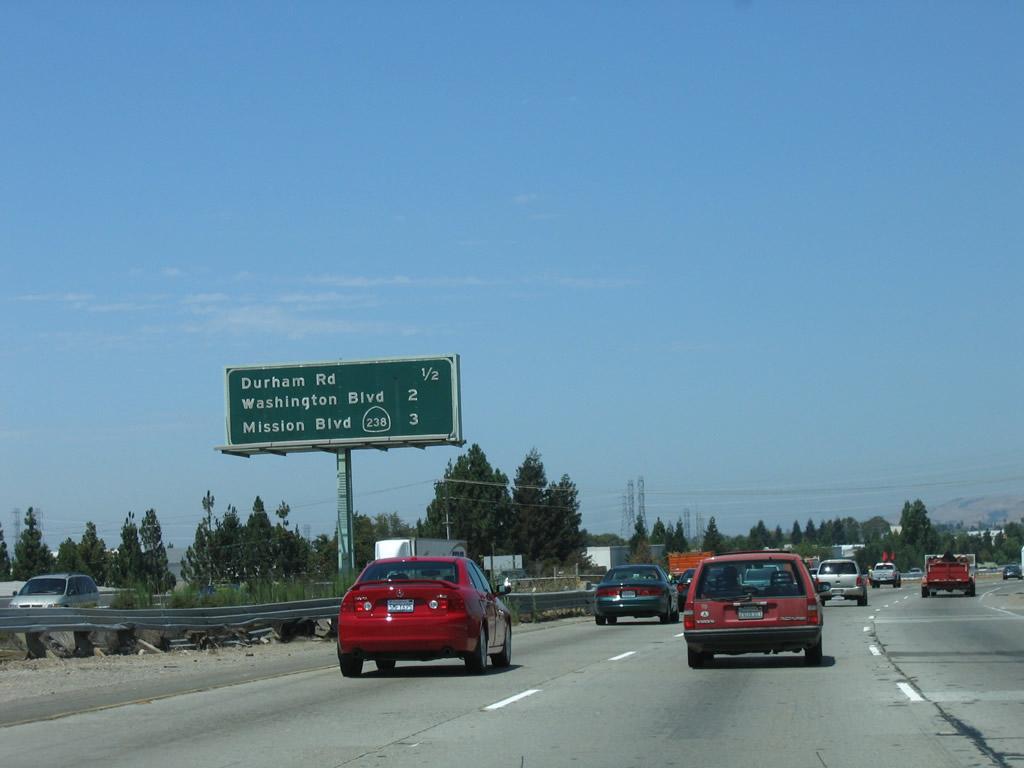 California AARoads Interstate 680 North Alameda County