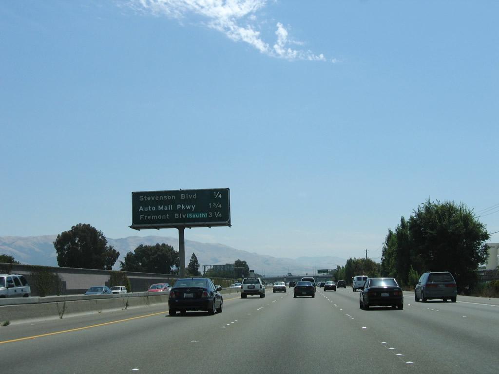 California AARoads Interstate 880 South Interstate