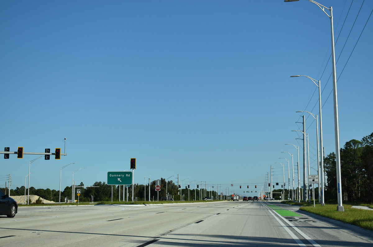 SR 82 east at the CFI with Daniels Parkway