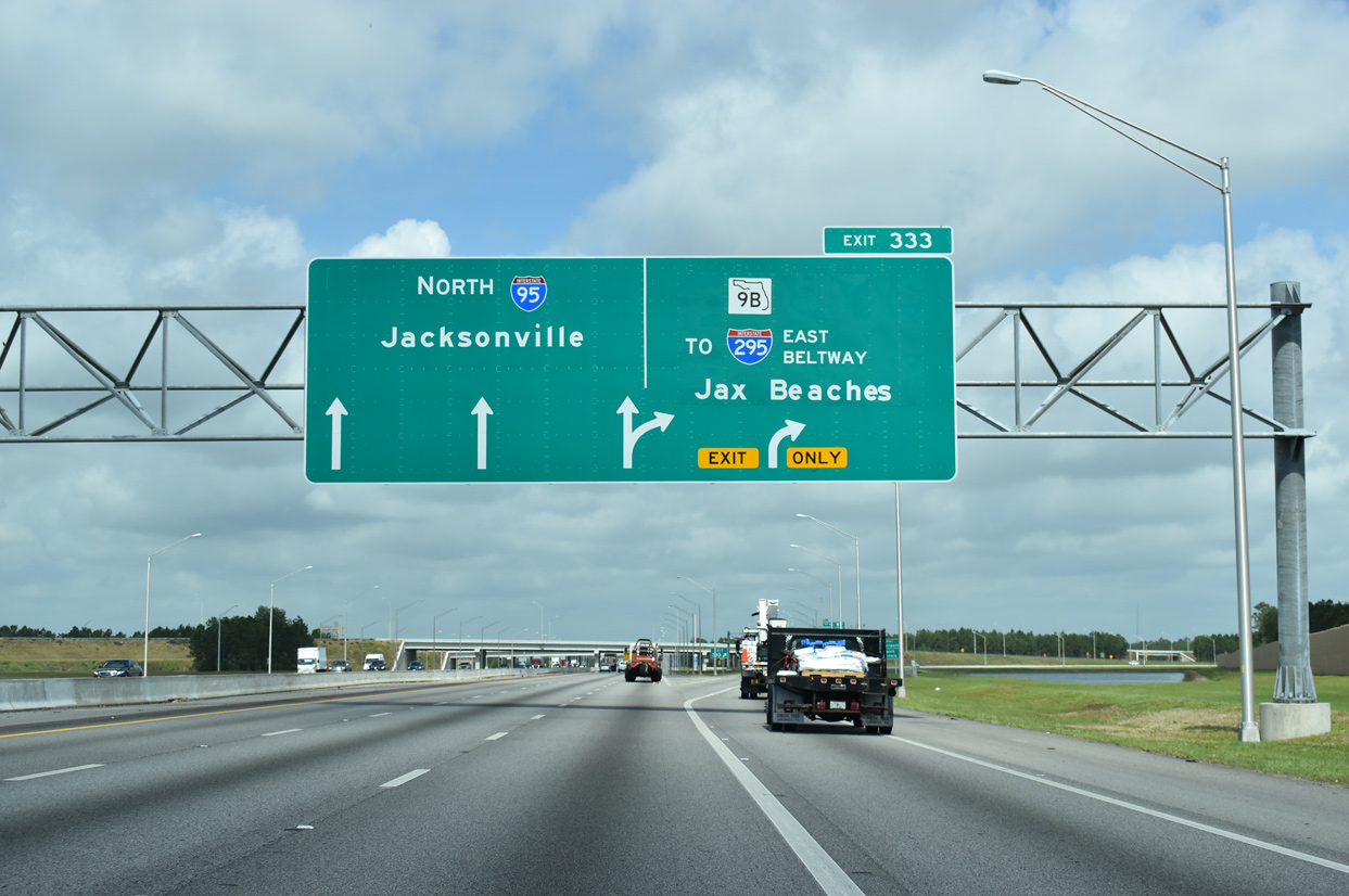 Interstate 95 North Southside To Downtown Jacksonville Aaroads Florida