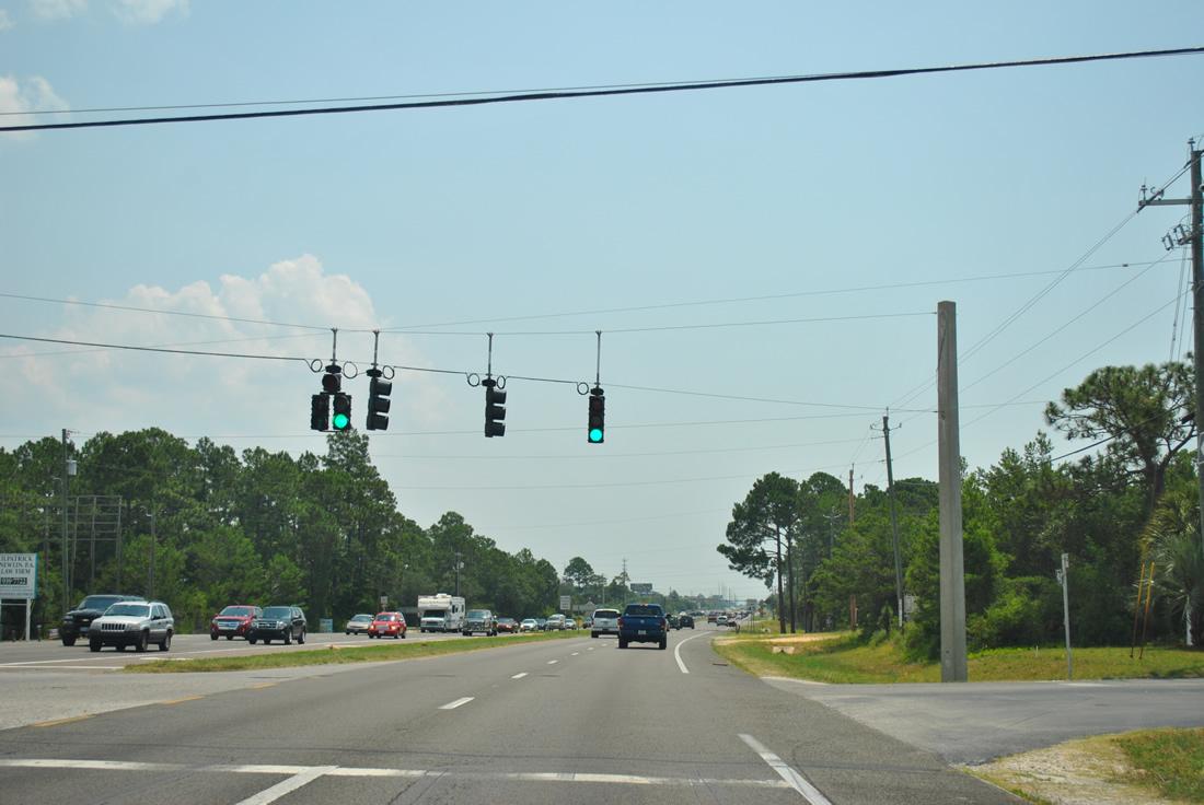 U S 98 East Santa Rosa County Aaroads Florida