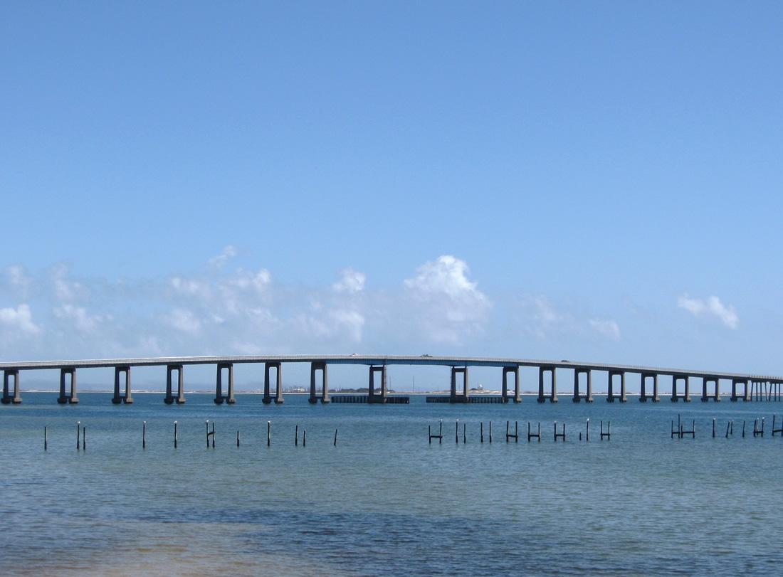 View Of The Navarre Beach Bridge From North S Santa Rosa Sound