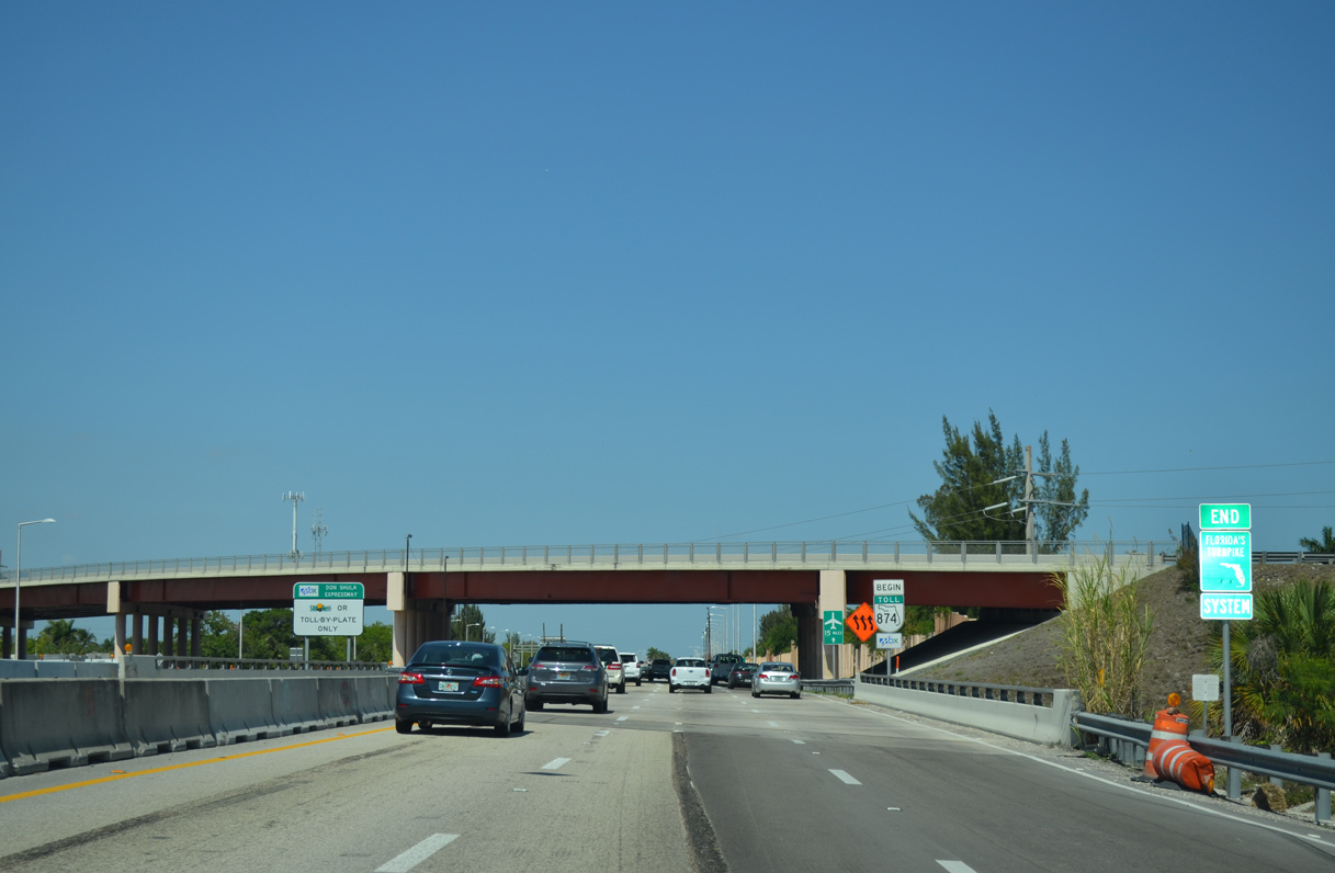 State Road 874 - Don Shula Expressway - AARoads - Florida