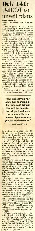 Delaware 141 news article