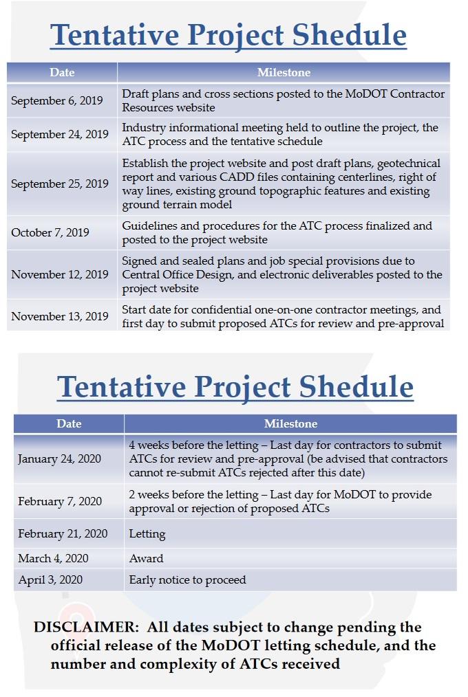 I-49 schedule