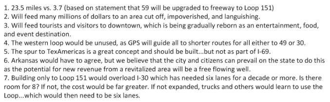 I-369 Texarkana Citizens Group Text
