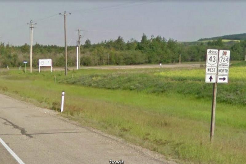 Alberta Highways 43 and 724