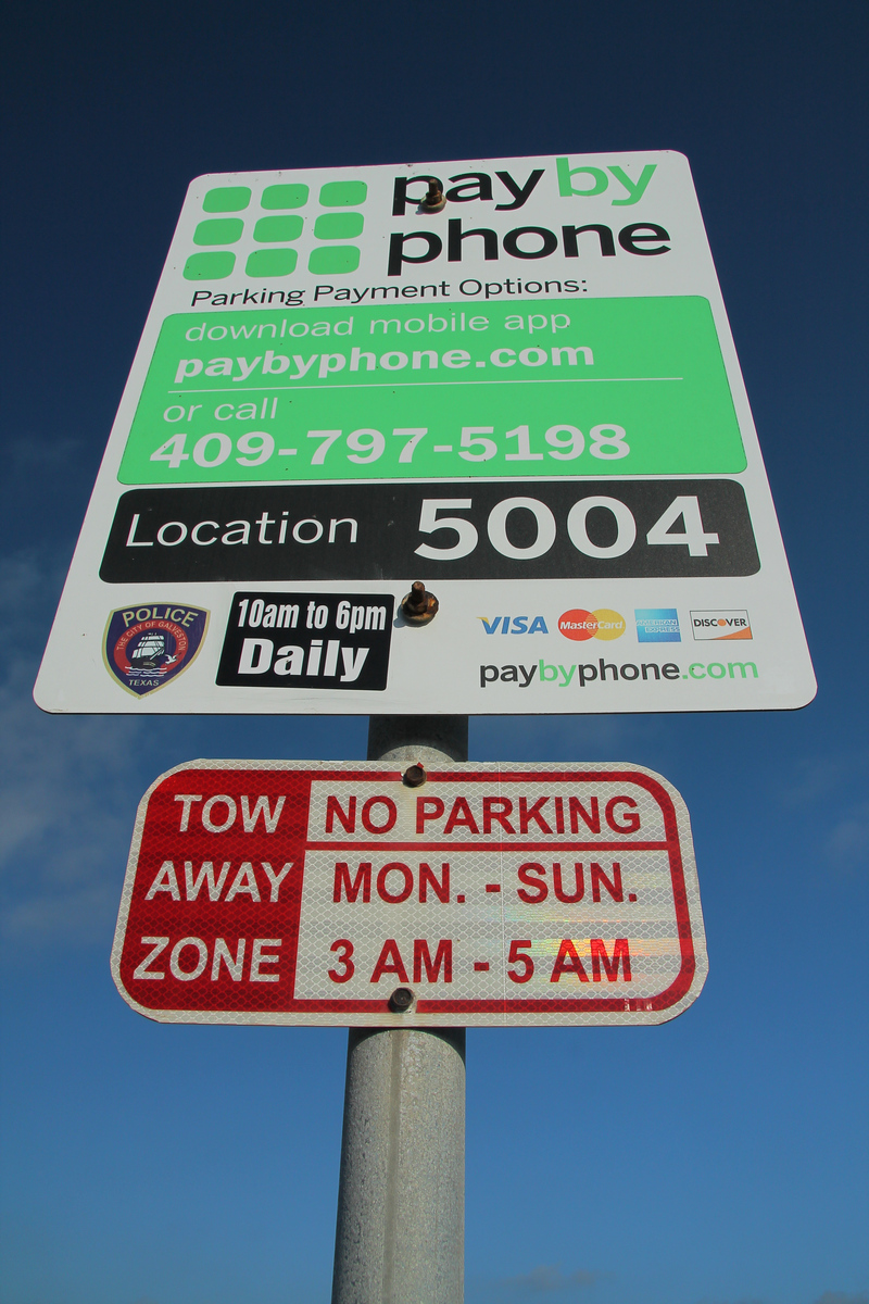 Galveston Beach Parking