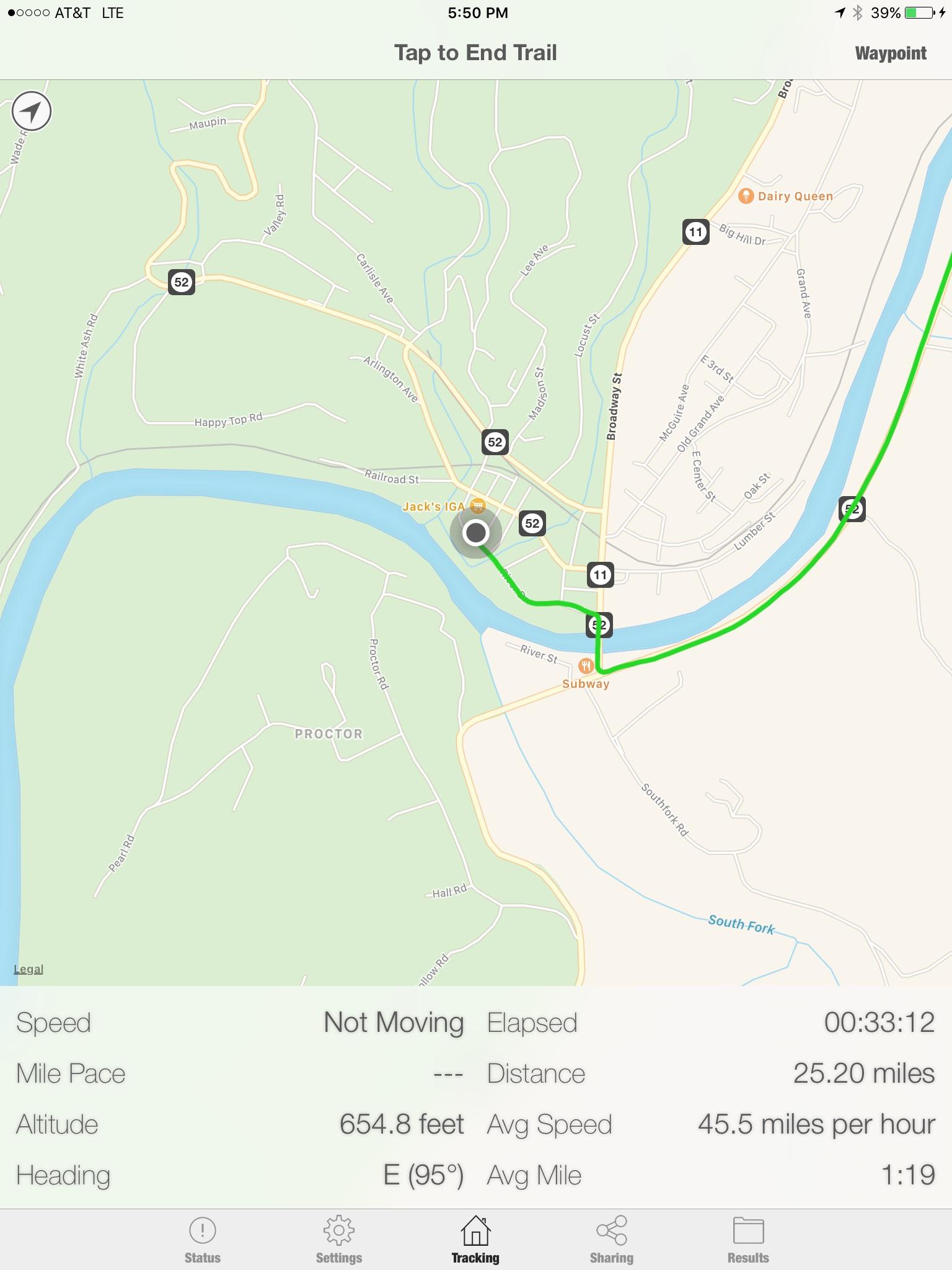 Trail Tracker screenshot