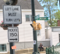 """Tiny rectangular sign with """"Route 150"""" (MA) and arrow"""