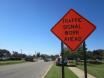 Traffic signal orange sign