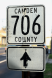 Old Camden County (NJ) 706 Sign