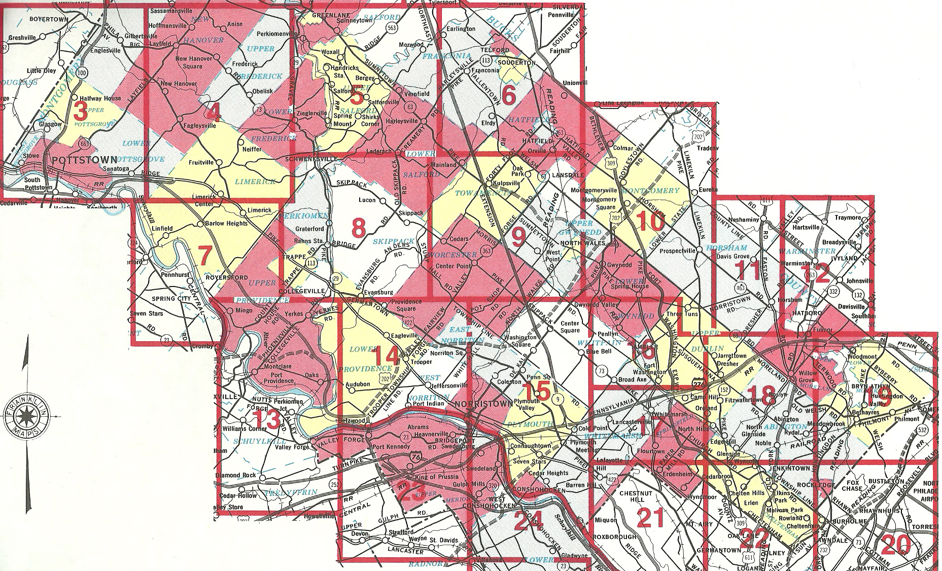 1991 Bucks County, PA Map Scans on harris county tx map, montgomery county subdivision, new york key map, montgomery county symbols, houston key map,