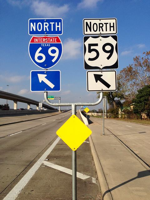 Image result for I-69 north sign from Houston