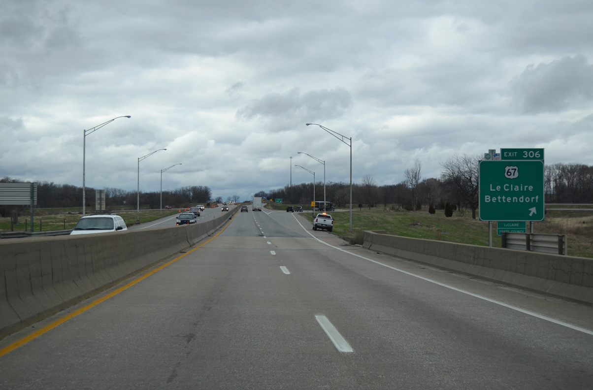 Interstate 80 West - Quad Cities Vicinity - AARoads - Iowa